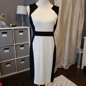 Dana Buchman Black and White Sleeveless Dress